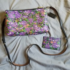 Coach Lyla Meadow Coated Crossbody and Card Holder